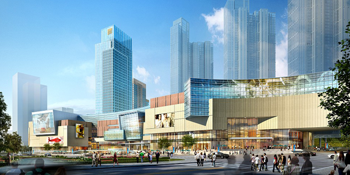 规划用地面积13.55万平方米,总建筑面积120万平方米,其中万象城45万平方米,是深圳万象城的1.5倍 建设以万象城为核心,包含五星级酒店、服务式公寓、5A级写字楼和精品住宅的多业态都市综合体。青岛万象城将成为全国规模最大、店铺数量最多,华北区最具示范效应的大型现代购物中心。